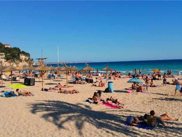 Beliebter Strand Cala Major