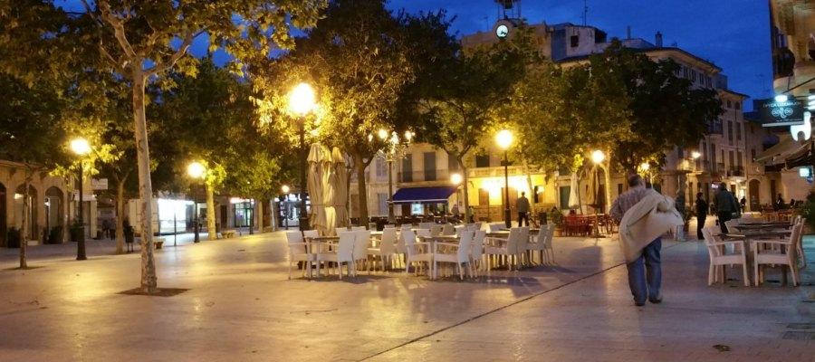 LLucmajor Mallorca bei Nacht