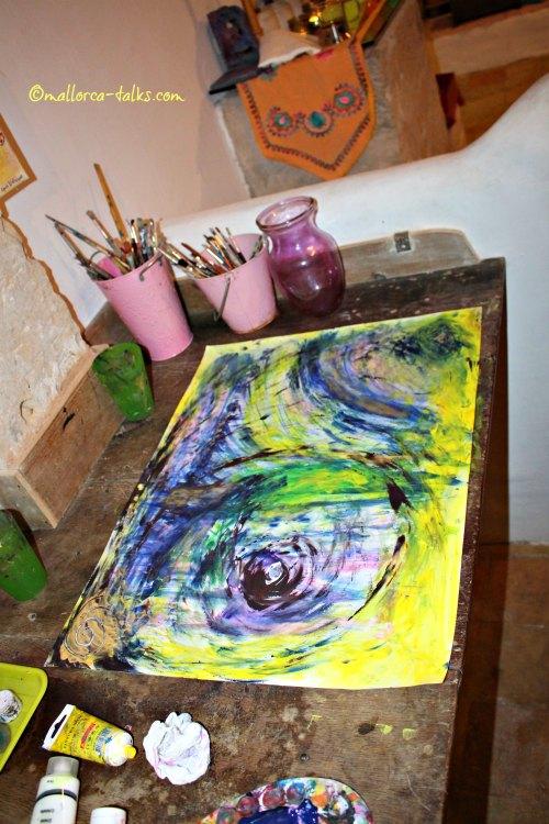 mein erstes Werk: Intuitives Malen im Alalma