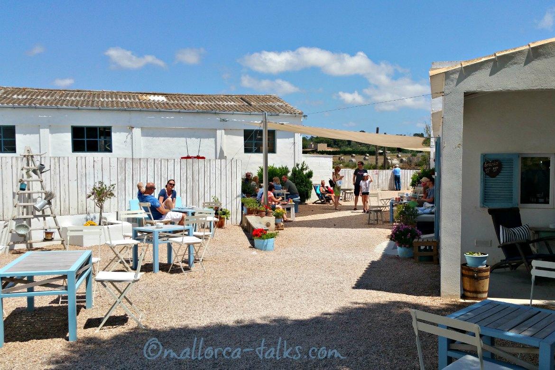 Die Salinen von Es Trenc - es gibt auch ein Cafe