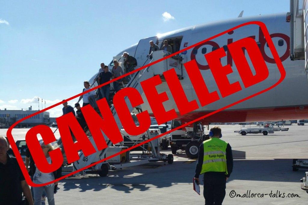Flug gecancelt - was jetzt? Airberlin und Tuifly Mallorca Flüge betroffen