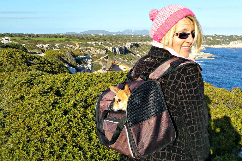 Trixie Hunderucksack Winter-Spaziergang auf Mallorca