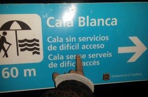 Hundestrand Cala Blanca Abstieg
