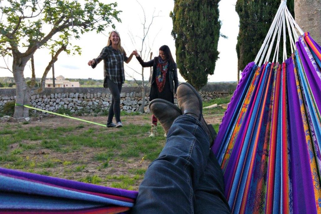 Slackline Lazy Finca Mallorca