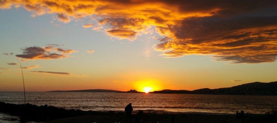 sonnenuntergang auf Mallorca zu Sant Joan