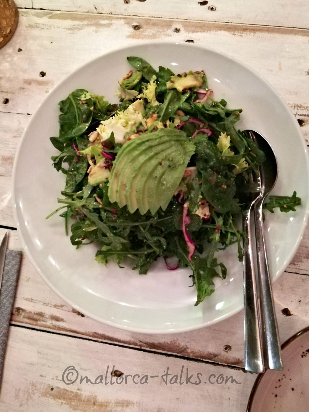 Der Salat im The Seed in Port Andratx