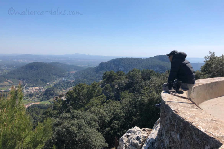 Esporles schönste Wanderung zur Jesus Statue mit tollem Ausblick