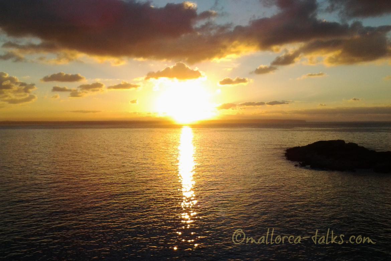 Sonnenuntergang Mallorca Talks Hierbastour zu Wasser
