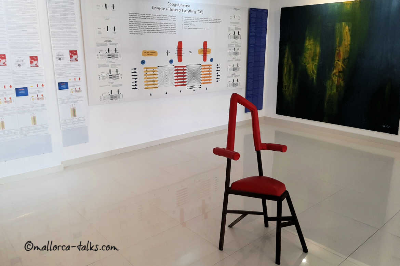 Was ist Kunst erklärt Dieter Liedtke in seinem Museum - Fotos Mallorca Talks