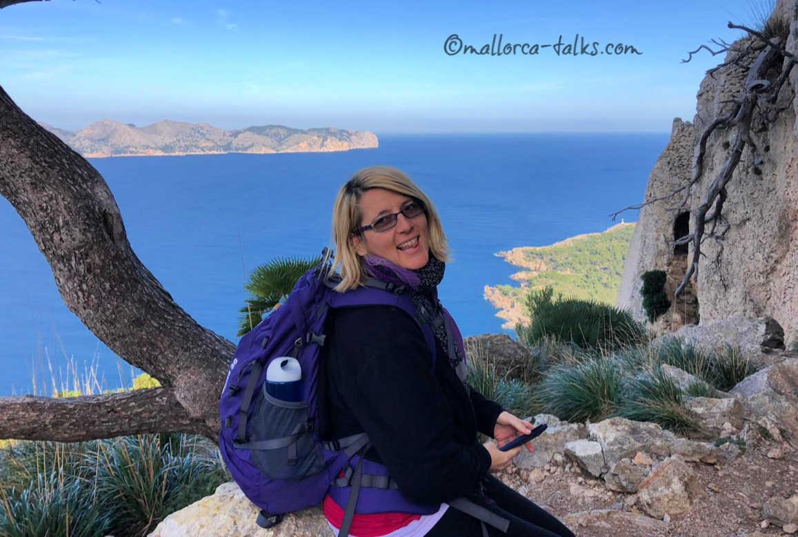 Ausblick Bucht von Alcudia auf der Wanderung Penya des Migdia