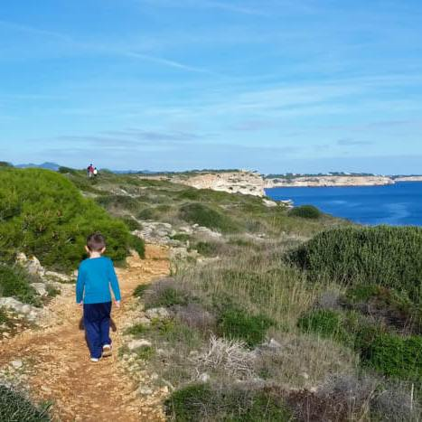 Wanderung mit Kindern zur Cala Marmols, Mallorca