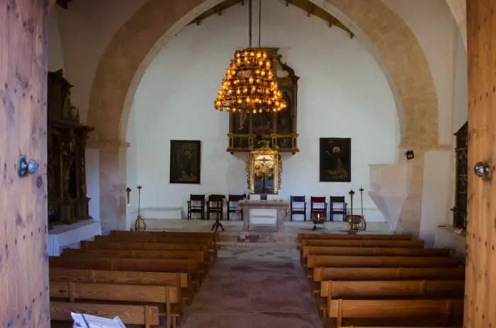 Kleine Kirche Sant Miquel bei Campanet Valentinstag auf Mallorca