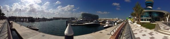 Panorama from Yas Marina