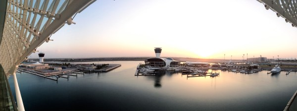 Panorama from Yas Viceroy over Yas Marina