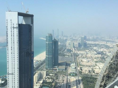 View downtown from the Jumeirah Etihad Towers - at Tolfalas.com
