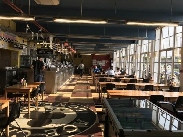 Inside the Ace Cafe, London