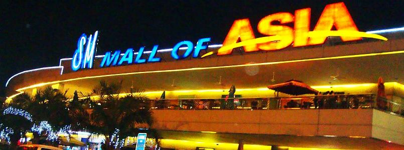 SM Mall of Asia Located in Makati, Manila, Philippines