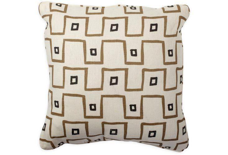 kuba cloth taupe pillow