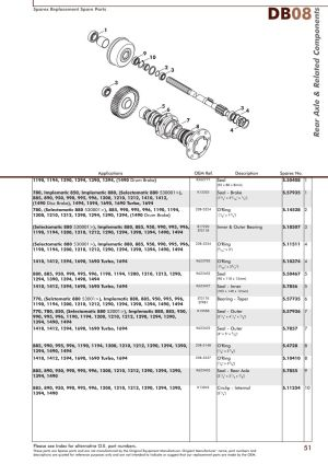 David Brown Rear Axle (Page 53)   Sparex Parts Lists