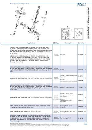 Ford Front Axle (Page 45) | Sparex Parts Lists & Diagrams | Malpasonlinecouk