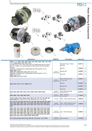 Ford Front Axle (Page 47) | Sparex Parts Lists & Diagrams