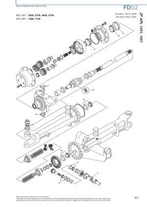 Ford Front Axle (Page 69)   Sparex Parts Lists & Diagrams   Malpasonlinecouk