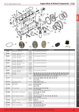 Massey Ferguson 2013 Engine (Page 91) | Sparex Parts Lists & Diagrams | Malpasonlinecouk