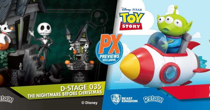 New PREVIEWS Exclusive Disney D-Stage Dioramas