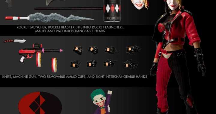 Harley Quinn Playing for Keeps as New PREVIEWS Exclusive One:12 Collective Figure from Mezco