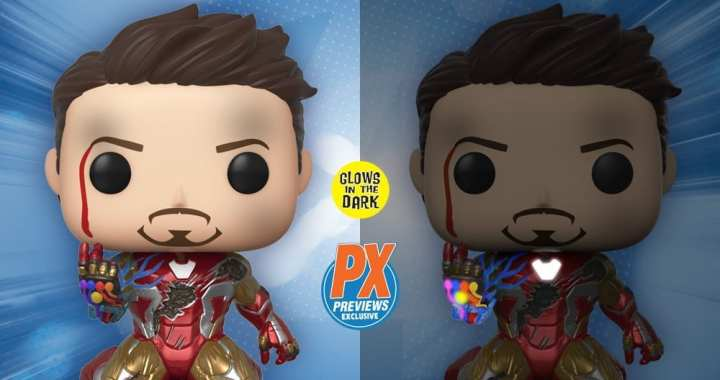 Preorder Out For Tony Stark's Triumphant Endgame Moment as a Funko PX Exclusive GitD Pop!