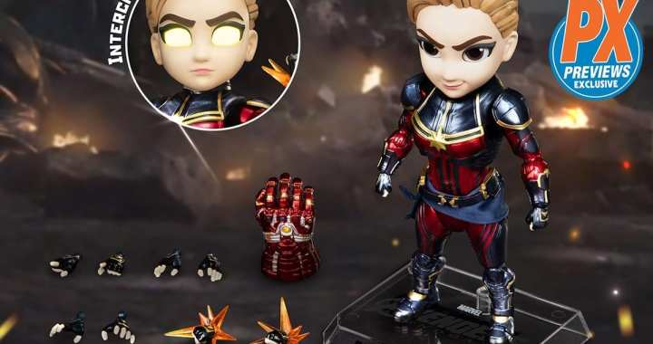 Captain Marvel from Avengers: Endgame Comes to the Rescue as a New PREVIEWS Exclusive Action Figure