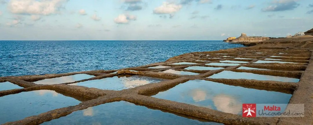 The salt pans at Qbajjar, in the North of Gozo