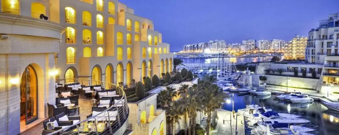 The Hilton Malta - One of the country's top luxury hotel.