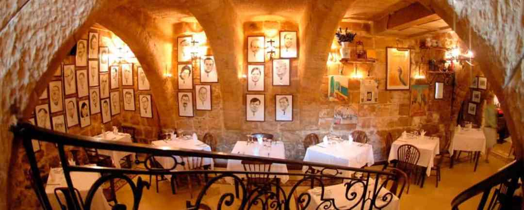Malata's underground dining room.