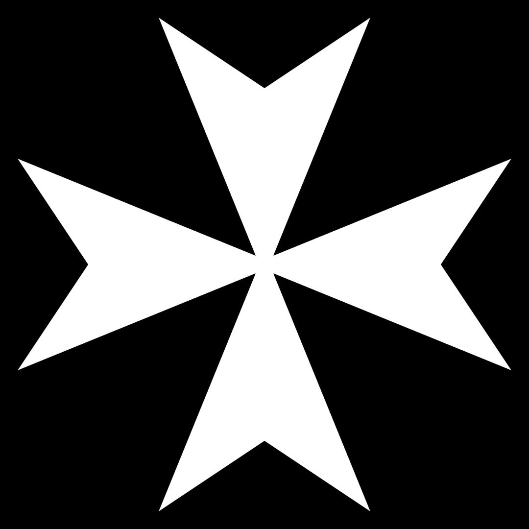 The Maltese Cross, symbol of the Knights Hospitaller of St. John.