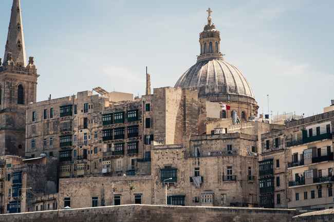Skyline of Valletta, the Capital city of Malta