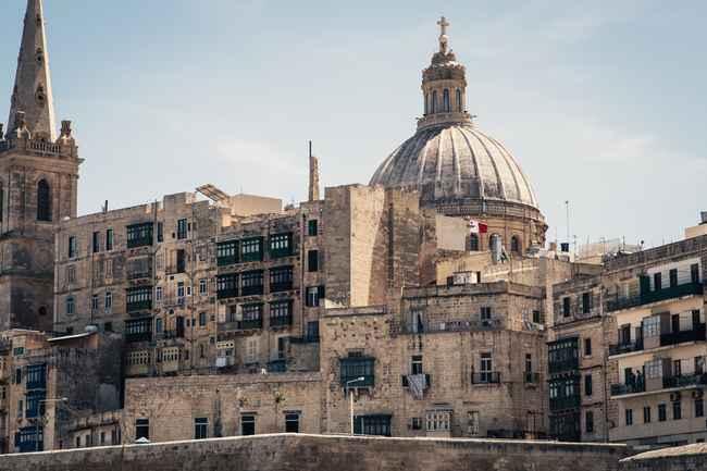 Skyline of Valletta, the Capital city of Malta