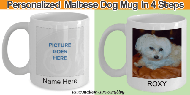 how to create a personalize Maltese dog mug