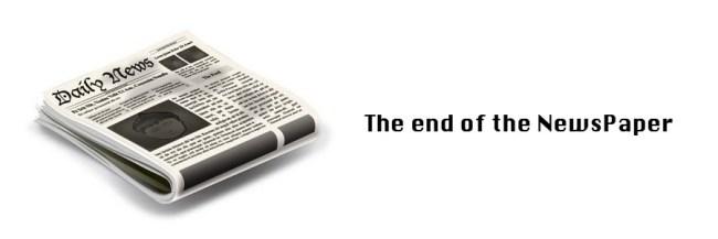 新聞の終焉イメージ