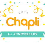 チャプリ1周年記念
