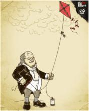 Benjamin Franklin Elektriğin Keşfi