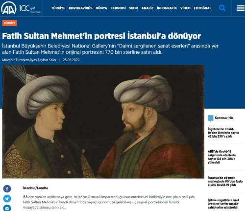 fatih sultan mehmetin portresi aa