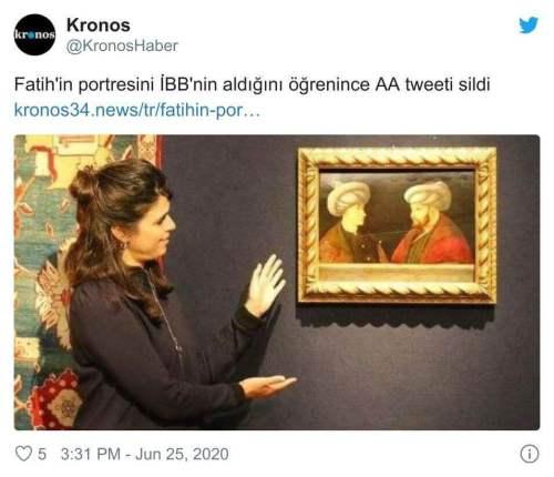 anadolu ajansı tweetini sildi