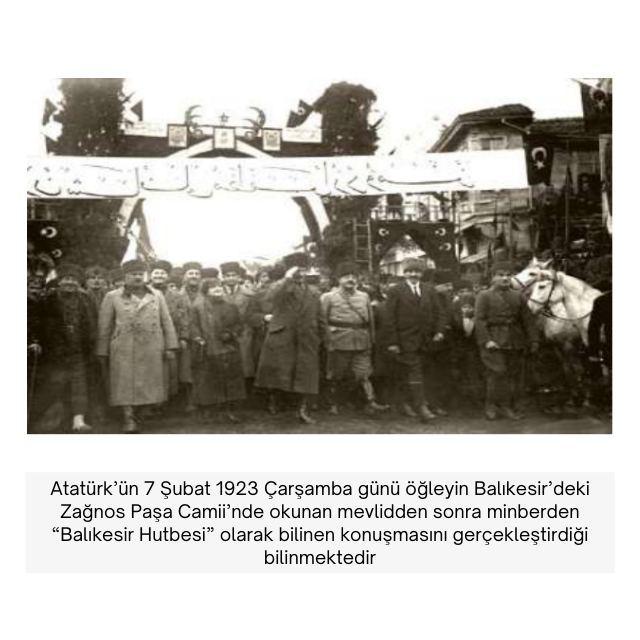 Atatürk Balıkesir Hutbesi