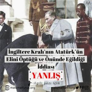 Atatürkün elini öpen İngiliz kralı ya da prensi değildir