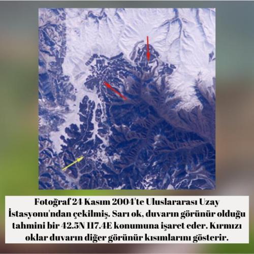 Çin Seddi'nin uzaydan görüntüsü