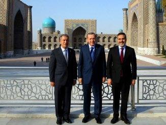 Cumhurbaşkanı Erdoğan'ın Semerkant'taki Fotoğrafı