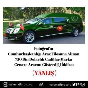 cumhurbaşkanı cenaze aracı