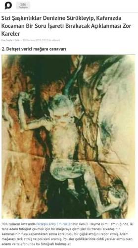 dehşet verici mağara canavarı