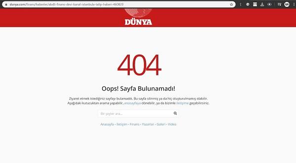 Dünya Gazetesinin Money Maker Management hakkında yayınladığı haberi internet sitesinden kaldırdığı görülüyor